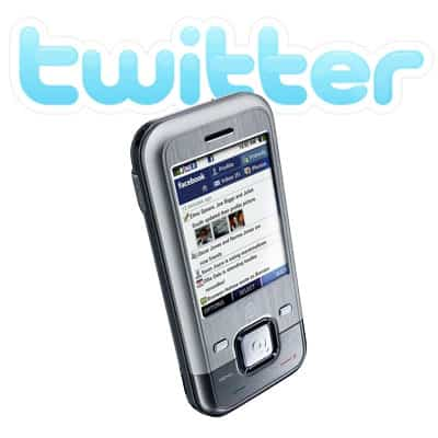 Twitter no seu celular