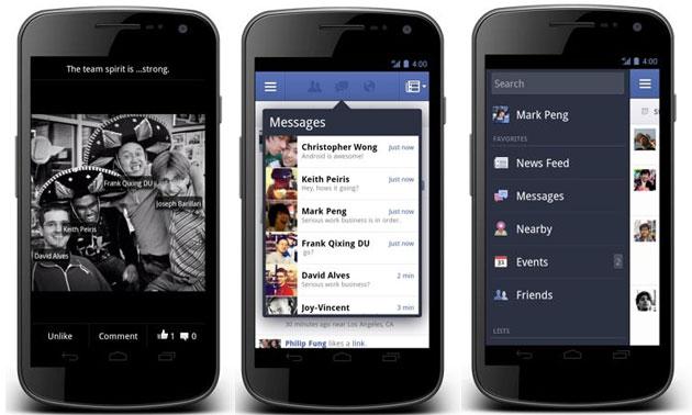 Novo app do Facebook para Android