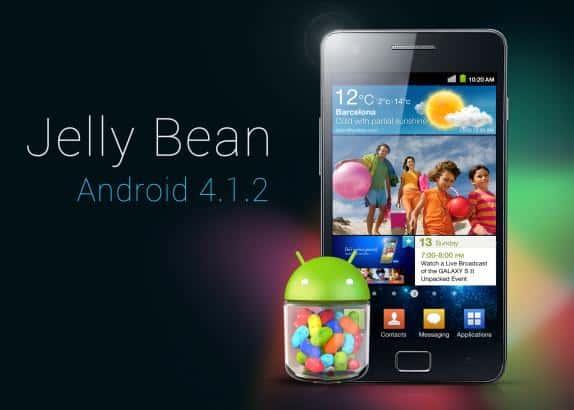 Atualização do Galaxy S2 android Jelly Bean