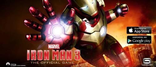Jogo do filme Homem de ferro 3 para Android e iOS