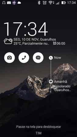 zenfone 5 - tela de desbloqueio