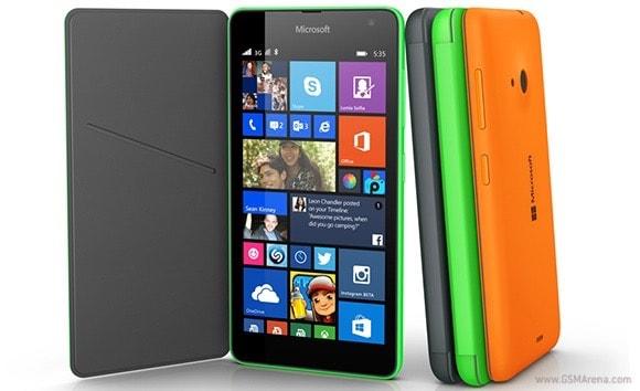 lumia 535 frente
