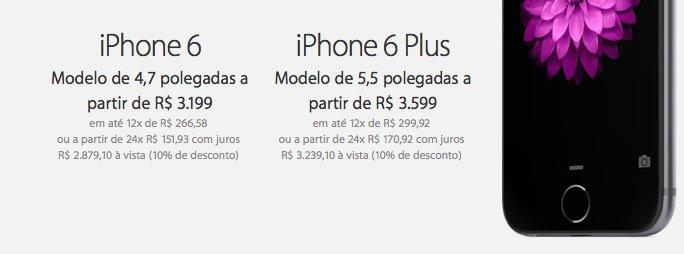 precos iphone 6