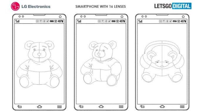 LG patenteia sistema com 16 câmeras para smartphones