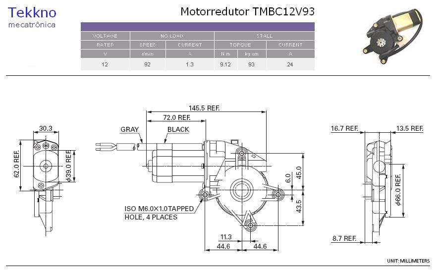 Motorredutor Tipo Mabuchi 12Vcc por apenas R$ 65,00