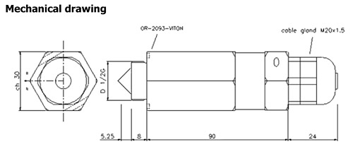 EEx Level Switch. ATEX Metallic IR sensor up to 60°C