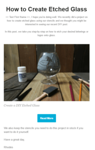 Etched Glass Email Increase CTR with Definite Language