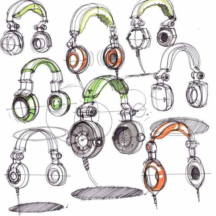 Avegant headphone sketches