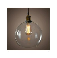 Modern Vintage Ceiling Light Crystal Glass Pendant ...