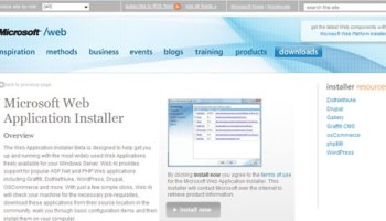 Microsoft Web Application installer Beta