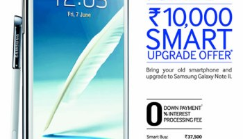 Samsung Galaxy Note II Cashback Offer