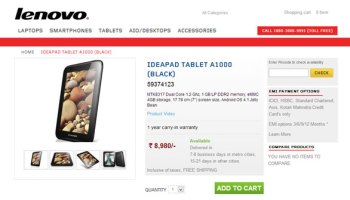 Lenovo IdeaPad A1000 Listing