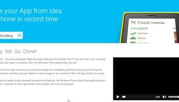 Windows phone app studio announced