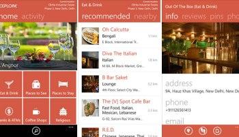 MapMyIndia Explore app for Windows Phone