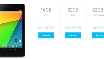 Google Nexus 7 available in India