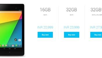 Google Nexus 7 available in India