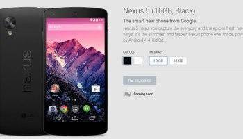 Nexus 5 India Price