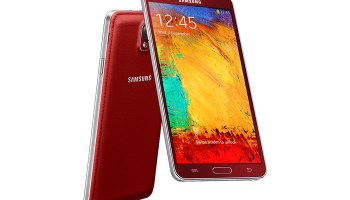 Samsung Galaxy Note Red Color Variant