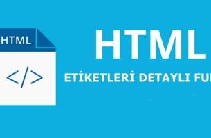 HTML ETİKETLER
