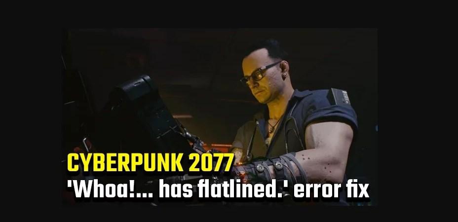 Cyberpunk 2077 Has Flatlined Issue Hata Çözümü