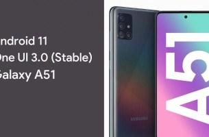 Samsung Galaxy A51 Android 11 Güncellemesi