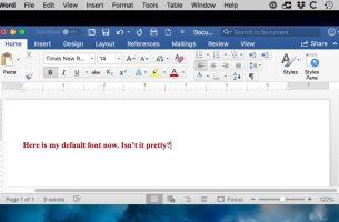 Mac için Microsoft Word'de Yazı Tipi Nasıl Değişti