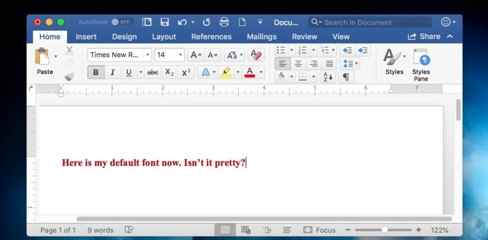 Mac İçin Microsoft Word'de Varsayılan Yazı Tipi Nasıl Değiştirilir 2021