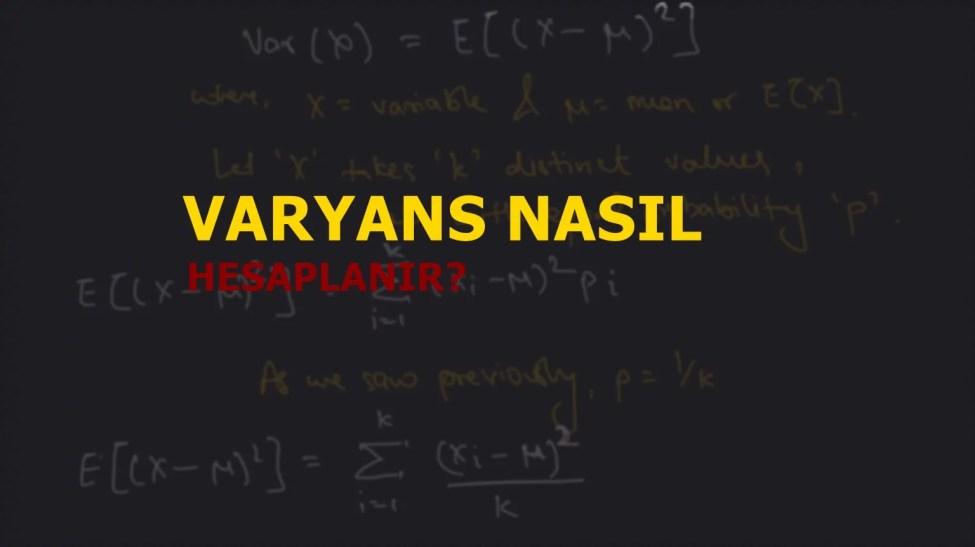 Varyans Nasıl Hesaplanır?