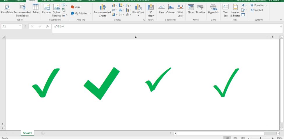 Excel'de Tik İşareti Koyma Nasıl Yapılır? 2021