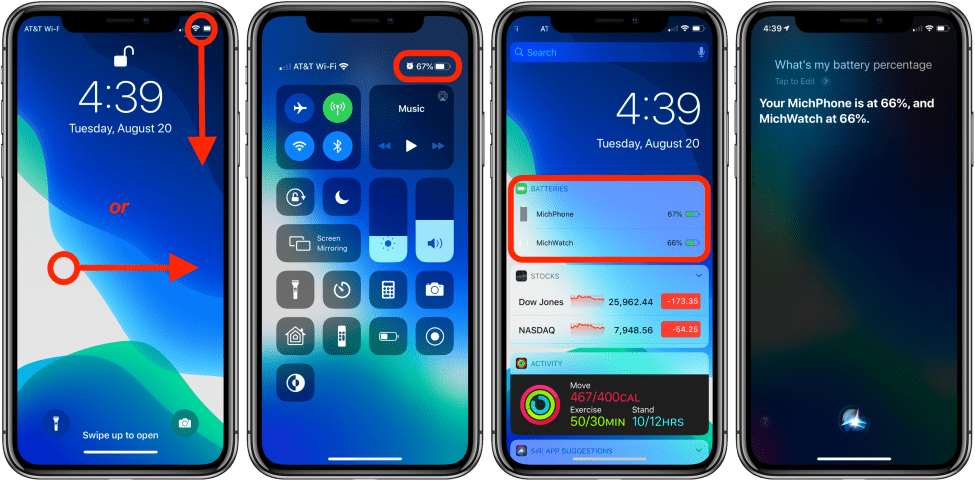 İphone İOS 13 Batterie İn Prozent (2021)