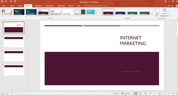Cara mengubah Template di powerPoint 2016 - Membantu untuk yang baru pertama kali membuat presentasi di PowerPoint, agar presentasi Anda terlihat sesuai yang Anda inginkan.