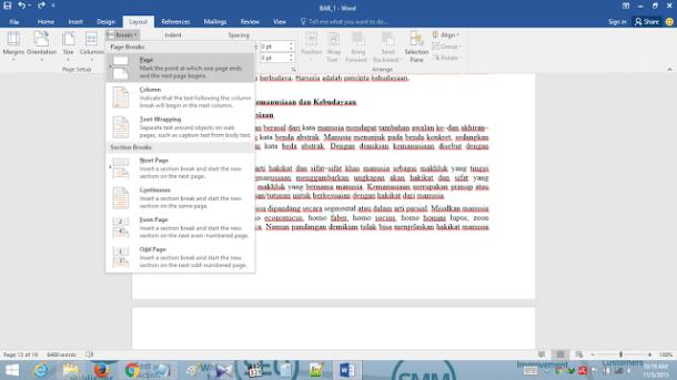 Gambar Cara mudah untuk mengelola BreaksPage atau halaman tambahan pada Word 2016, membuat Anda lebih menguasai Word dan mengontrol semua dokumen Anda, Cara menghapus dan menambahkan Break Page dengan lengkap dan pengetian lain tentang tools Break Page
