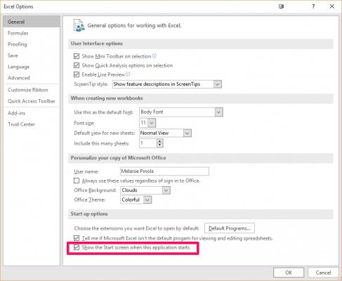 Cara mudah disable Layar Start Screen di Microsoft Office 2016, Anda bisa langsung membuka Office pada tampilan kosong untuk pekerjaan Anda