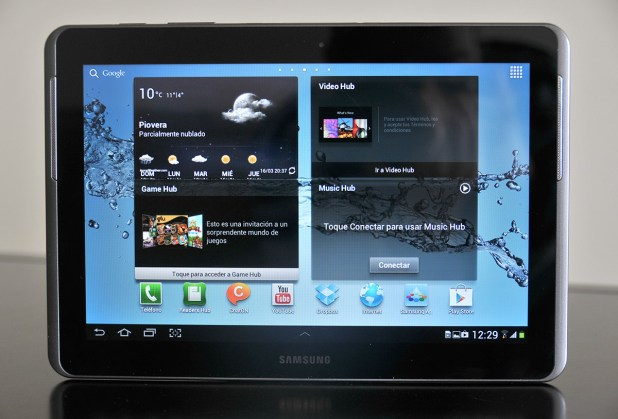 Galaxy Tab 2 10.1 - parte frontal