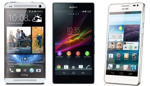 HTC One - Sony Xperia Z - Huawei Ascend D2