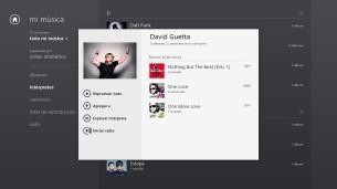 Intérprete en Xbox Music