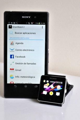 Sony SmartWatch 2 con Xperia Z1