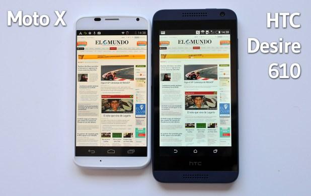 HTC Desire 610 vs Moto X - 1