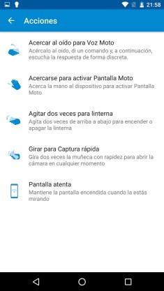 Acciones Moto