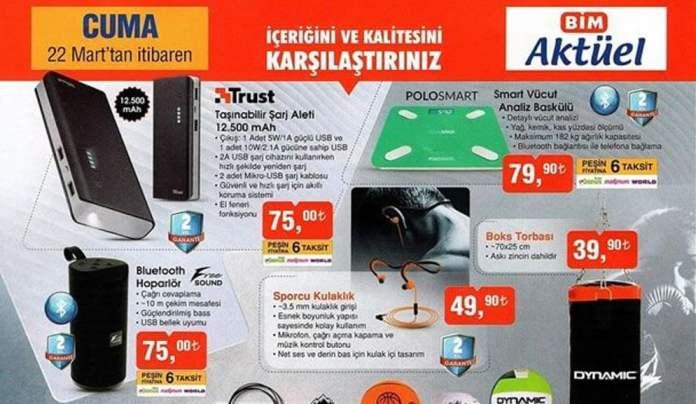BİM 22 Mart Teknolojik Ürünler