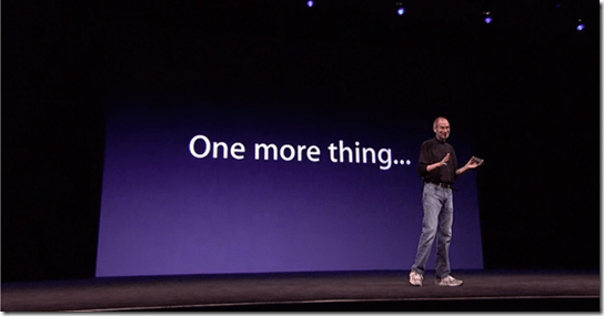 Apple, Jobs, one more thing