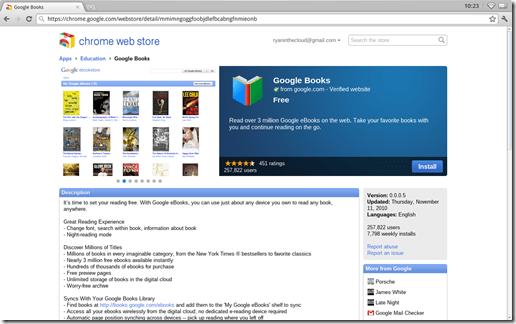 Chromebook Chrome OS Web Store