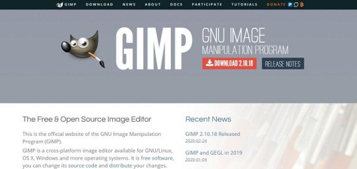 GIMP - Aplikasi edit foto PC