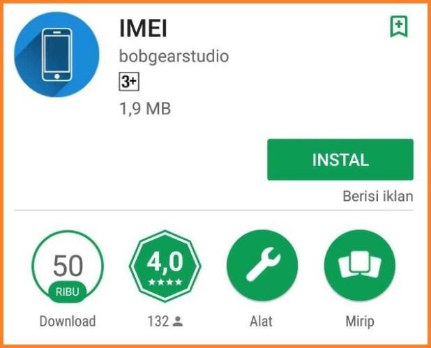 Mengecek Kode IMEI pakai Aplikasi
