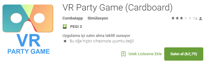 VR Party Game (Cardboard) - Google Play'de Android Uygulamaları