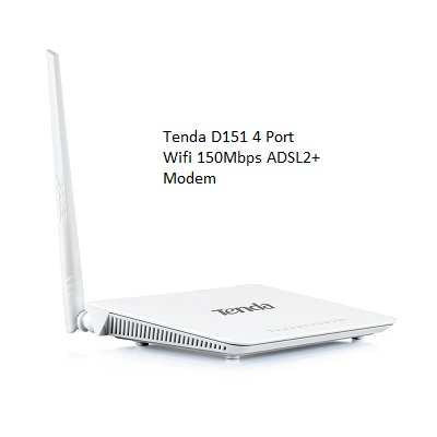 Tenda D151 4 Port Wifi 150Mbps ADSL2+ Modem