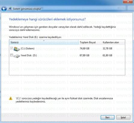 windows 7 imaj alma,windows 7 sistem görüntüsü alma,sistem imajı nedir,imaj almak ne işe yarar