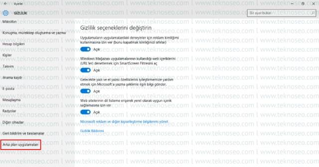 windows 10,arka planda çalışan uygulamaları kapatma,gereksiz hizmetler,arka planda çalışan programları kapatma,hızlandırma