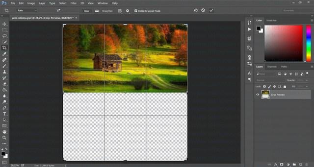 photoshop,su yansıma efekti,eğitim,nasıl yapılır