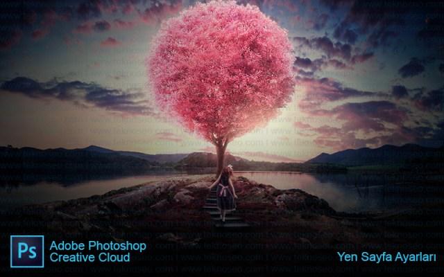 photoshop,yeni sayfa,eğitim,nasıl yapılır